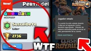 💣¡Hoy veremos que me BANEAN de Clash Royale y me cambia el nombre supercell!🌊Redes Sociales OFICIALES del Canal:➜Twitter: https://twitter.com/TheMike2311 ➜Instagram: https://instagram.com/themike2311/➜CRACKS:►ByMaxx: https://www.youtube.com/channel/UCX4_neTqzb70JUh93Dony-A►DollarGames: https://www.youtube.com/channel/UCpPF2MdnwJlep2xKEre4NKw►Antrax:https://www.youtube.com/channel/UCNbwP-bKUlKrE_5qDwvFILQ