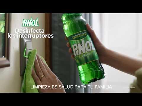 Ayuda a proteger tu familia de virus y bacterias desinfectando interruptores con Pinol® El Original