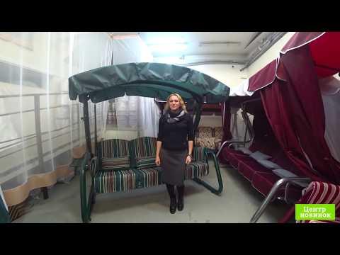 Видео Тент-крыша для садовых качелей (с прямой крышей)
