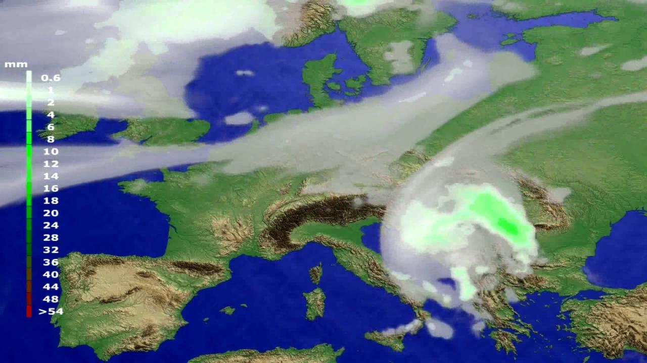 Precipitation forecast Europe 2016-07-13