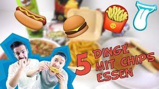 5 Dinge die du mit CHIPS kombinieren solltest | Chips mit PIZZA, POMMES, HAMBURGER, HOT DOG