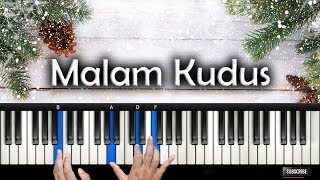 Video Belajar Piano MALAM KUDUS - Holy Night | Rohani Piano Keyboard MP3, 3GP, MP4, WEBM, AVI, FLV Mei 2019