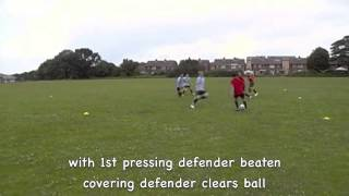 "This video provides a visual presentation of the ""Improving Defending - 3v3 Defending when organised"" training session plan ..."