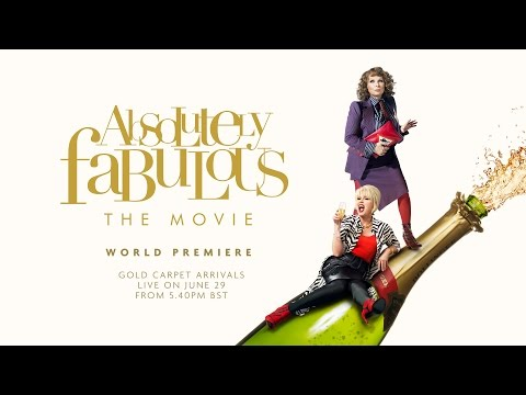 WORLD PREMIERE OF ABSOLUTELY FABULOUS: THE MOVIE - 29th JUNE 2016