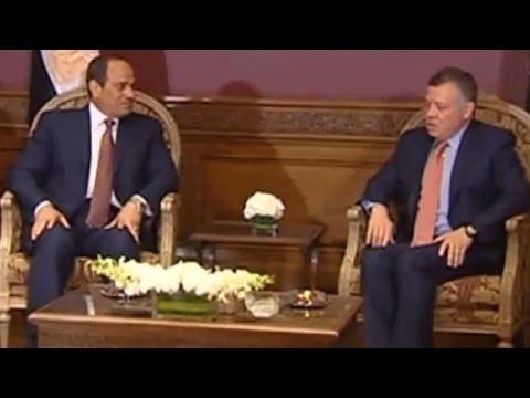 الرئيس السيسي والعاهل الأردني يبحثان في عمان العلاقات الثنائية