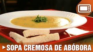 Sopa Cremosa de Ab�bora
