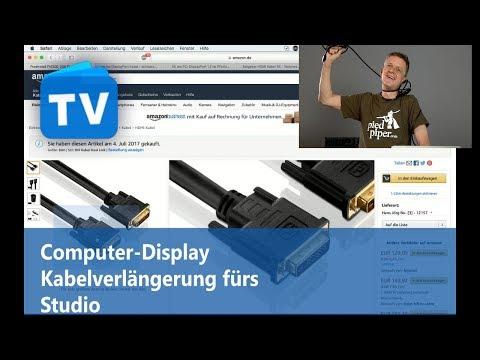 Computer Display Kabelverlängerung im Recording Studio / Tonstudio