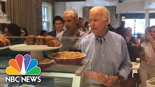 Former President Barack Obama And Joe Biden Reunite At Washington Bakery   NBC News