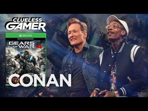 Conan Plays Gears of War 4 with Wiz Khalifa (and they smoke)