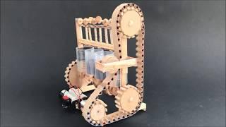Video How the four cylinder engine model - DIY with cardboard MP3, 3GP, MP4, WEBM, AVI, FLV September 2018
