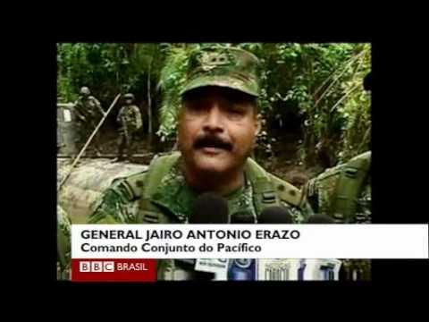 Submarino do tráfico de drogas encontrado pela Marinha da Colômbia