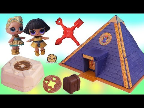 LOL Surprise Doll Treasure X Gold Dig At Pyramids ! Blind Bag Toy Video