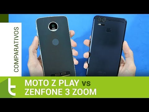 Comparativo: Moto Z Play vs Zenfone 3 Zoom  Review do TudoCelular