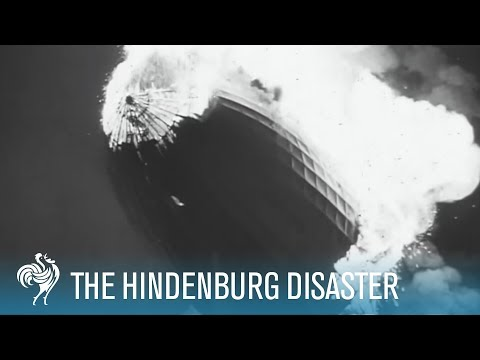 Hindenburg Disaster Real Footage %281937%29 %5BHD%5D