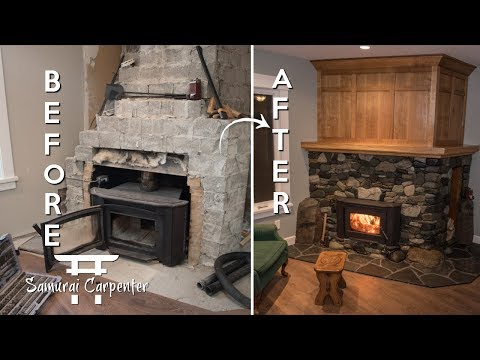 Samurai Carpenter Fireplace Makeover. This Dude Is Amazing.