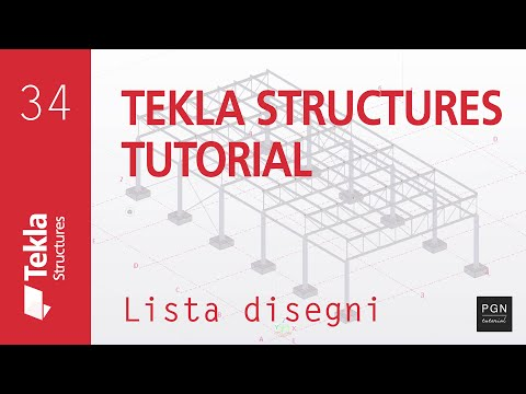 Tekla Structures Tutorial #34 (ITA) - Lista Disegni (Drawings List)