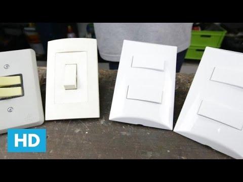 Como instalar ou trocar interruptores - Tipos de interruptores de luz ...