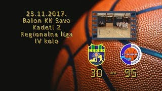 kk zemun3 kk sava2 30 95 (kadeti 2, 25 11 2017 ) košarkaški klub sava