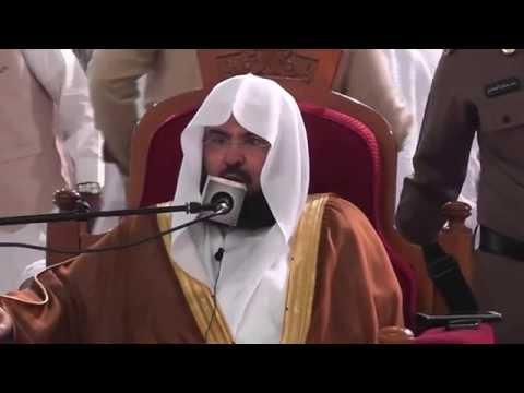 كلمة معالي الشيخ د.عبدالرحمن بن عبدالعزيز السديس حول ماجرى في الحدود الشماليه من المملكة