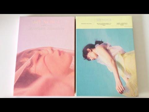 ♡Unboxing Taeyeon 태연 1st Studio Album My Voice 마이 보이스 (Deluxe Editions)♡ (видео)