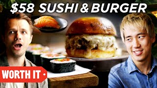 Video $10 Sushi & Burger Vs. $58 Sushi & Burger MP3, 3GP, MP4, WEBM, AVI, FLV Agustus 2019