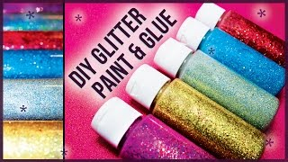 DIY Glitter Glue Paint / How to Make! Easy + Cheap - YouTube
