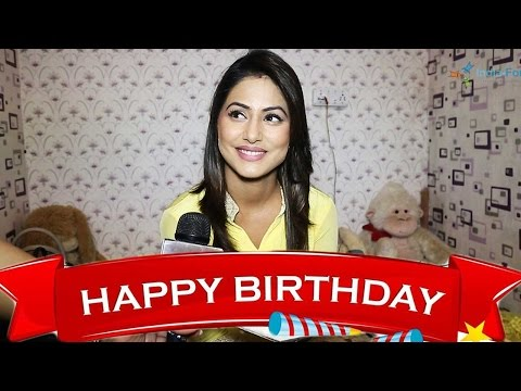 Pretty Hina Khan celebrates her birthday