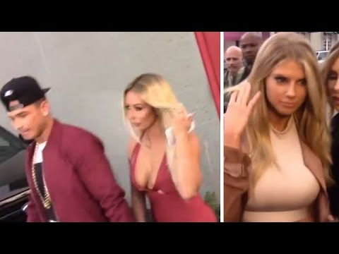 Aubrey O'Day, Boyfriend Pauly D, And Charlotte McKinney At House Of CB Launch