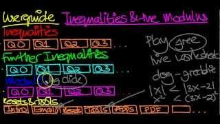 Inequalities Practice YouTube video