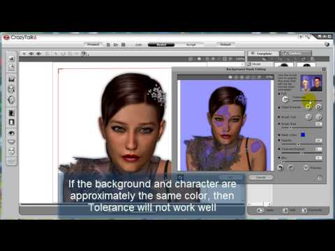 CrazyTalk6 Tutorial – Separating the Character from Background