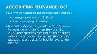The End of Accounting Webinar