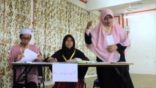 المسابقة الأخيرة للمناطرة بين مجموعة الأخفش وسيبويه في دورة اللغة العربية المكثفة لطلاب المنحة 2015