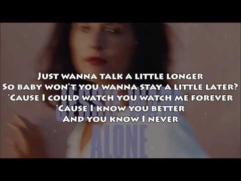 Jessie Ware - Alone (LYRICS) NEW! 2017