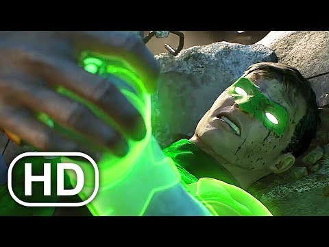 Black Adam Kills Green Lantern JUSTICE LEAGUE Fight Scene Cinematic - DC Universe Online