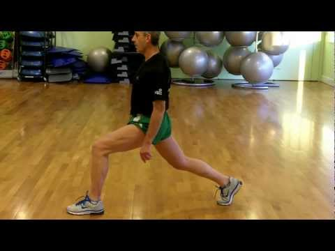 Stationary Lunge - Side View