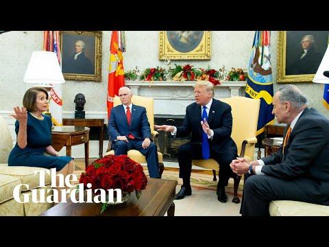 Trump in extraordinary clash with Pelosi and Schumer