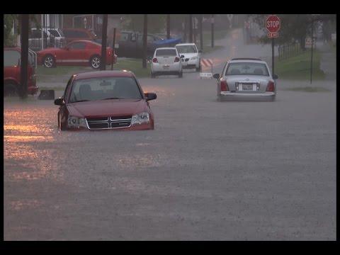 Herrin, IL Extreme Flash Flooding 4K - 4/29/2017