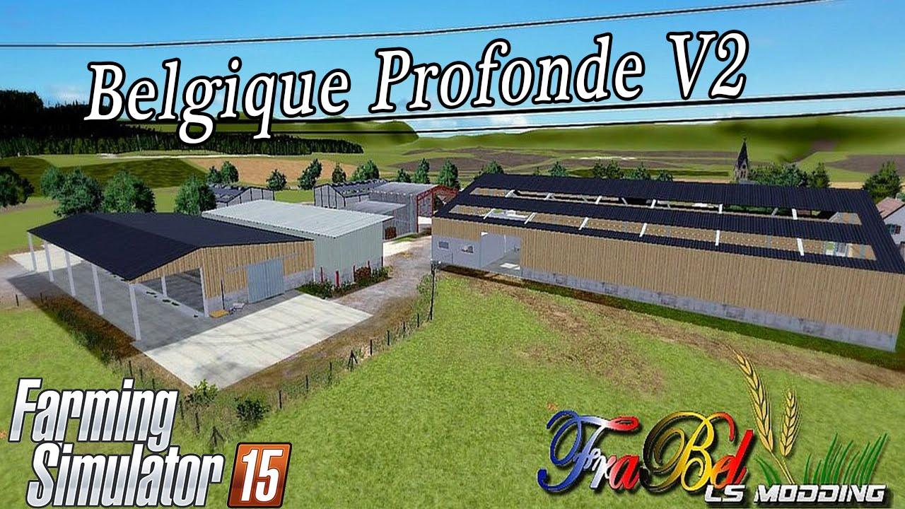 map belgique profonde v 2 0 mod for farming simulator 2015 15 fs ls 2015 mod. Black Bedroom Furniture Sets. Home Design Ideas