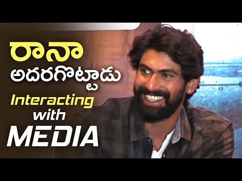 Rana Superb Answers To Media Questions | Rana Interacting With Media