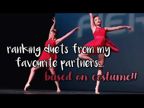 ranking duets from my favourite partners by costume! (COLLAB!!) | dance moms