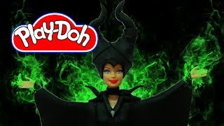 Play Doh Barbie Disney  Maleficent  Inspired Costume  Play-Doh Craft N Toys