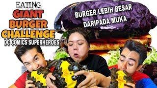 Video GIANT BURGER CHALLENGE! BURGER LEBIH BESAR DARI MUKA! MP3, 3GP, MP4, WEBM, AVI, FLV Agustus 2019