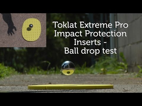 Toklat Extreme Pro Impact protection inserts - Ball Drop test
