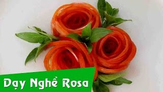 Tỉa hoa hồng từ quả cà chua