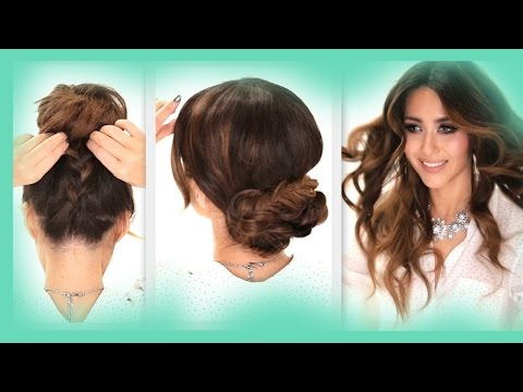 ★3 EASY OverSlept HAIRSTYLES | SCHOOL Braids + Curls +  Messy Bun  Hairstyle