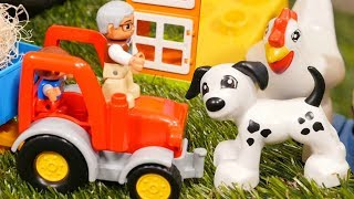 Welcome to a LEGO Duplo farm! Here you can learn animals for kids with LEGO Duplo. Watch learning videos with toy tractor & LEGO Duplo farm animals and learn English for kids! What animals do you see at the LEGO Duplo farm? A chicken 🐔 a cow 🐄 a dog 🐶 and a horse 🐎 Learn animals with preschool learning videos!Find us in VK https://vk.com/kidsfirsttvFacebook https://www.facebook.com/KidsFirstTVand https://www.facebook.com/KapukiKanukiWelcome to the #ttoyzz channel! Play with #toysforboys and #toysforgirls. Watch #toyschannel with differents toys: #tayolittlebus toys, #legotoys and other toys for boys and girls.Subscribe here https://www.youtube.com/c/TToyzz and play with toys!Tayo the little bus English cartoon for kids and find Tayo English stories here https://www.youtube.com/watch?v=AecrvXLwZJc&list=PLcydIP1OHtnyY9-qObw5Y-i64bkOlovli