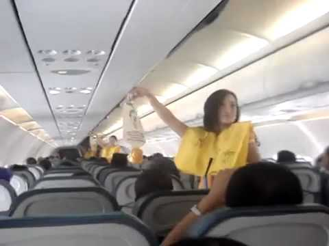 Sexy Flight Attendants Give Safety Procedures (Lady Gaga/Katy Perry)