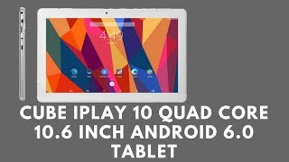Cube iPlay 10 Quad Core 10.6 Inch Android 6.0 TabletAfter a cheap budget tablet to stream all your movies down or play all your favourite songs? maybe you want to skype friends and family or just play games? well, you can do it all on this affordable tablet.20% off coupon: ec2ec8Cube iplay 10: https://goo.gl/wj2nL6Tablet clearance:  https://goo.gl/BcySJMDescription:Cube iPlay10 U83 Tablet comes with MTK MT8163 Quad core A53 64-bit 1.3GHz CPU processor.Adopts Android 6.0 Systemsand 2GB RAM+32GB ROM! The 1920*1080 Resolution 10.6 Inch IPS Touch Screen brings you perfect visual enjoyment.And this tablet supports GPS/Bluetooth function.Model    Cube iPlay10 U83 Tablet CPU MTK MT8163 Quad core A53 1.3GHzGPU MALI T720-MP2System Android 6.0RAM 2GBCapacity      32GB Screen 10.6Inch IPS Capacitive touch screenResolution 1920*1080Extend  Card    Support Micro SD Card up to 128GBCamera Front 0.3MPBack is 2.0MP WIFI Support 802.11a/b/g/n (2.4GHz+5GHz)Bluetooth Support Bluetooth 4.0G-Sensor SupportGPS SupportOTG Support Picture JPG/BMP/PNGVideo MPEG4/H.264/H.263/DIVX/XVIDLanguage Muti-languageMicrophone built-in microphoneSpeaker built-in speaker  I/O Port 1* Micro 5PIN USB Port1* 3.5mm Earphone port1* TF Card Slot1* Charging Port1*Micro HDMI PortBattery 3.7V/6000mAhWeight 600gSize 267.7*168*9.53mm   Package  Included 1 x Cube iPlay10 Tablet 1 x USB Cable1 x Charger(5V/2A)1 x Adapter (the adapter depends on the country of the buyer.) Why not join our forumhttp://www.briteccomputers.co.uk/forum