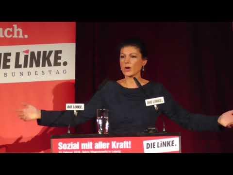 Sahra Wagenknecht zur aktuellen politischen Lage (Leipz ...
