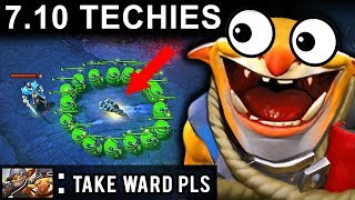 NEW TRICK PATCH 7.10 TECHIES DOTA 2 NEW META GAMEPLAY #39 (CARRY TECHIES FUNNY MOMENTS)
